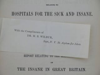 Extract from the ninth annual report of the State Board of Charities of the State of New York relating to hospitals for the sick and insane.