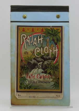 1880s Rajah Printed Cloth Sample Book [textiles]. Merrimack Mfg. Co. Mills
