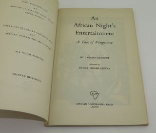 AN AFRICAN NIGHT'S ENTERTAINMENT: A Tale of Vengeance