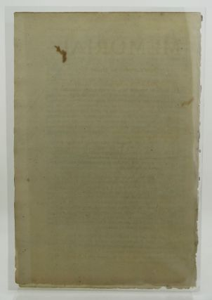 "Broadside. Begins: ""Memorial for John Campbell of Calder..."""