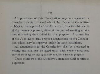 Constitution of the National Association for the Protection of the Insane and the Prevention of Insanity.